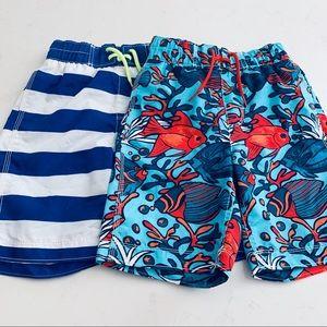 GAP Boys bundle of two swim trunks bathing suit